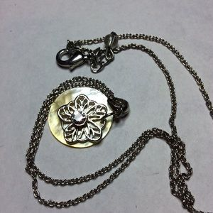 Silver Flower Shell Necklace
